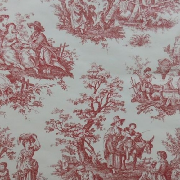 Waverly Toile Wallpaper Red Cream Nwt